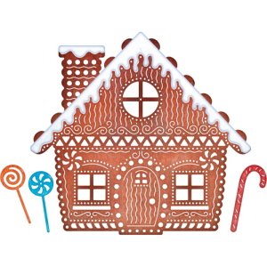 (B606) Gingerbread House (Set of 6 dies)