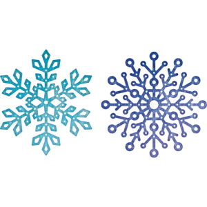 (B635) Snowflake Set 2 (Set of 2)
