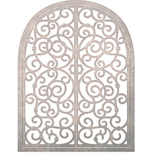 (FRM152) Wrought Iron Window