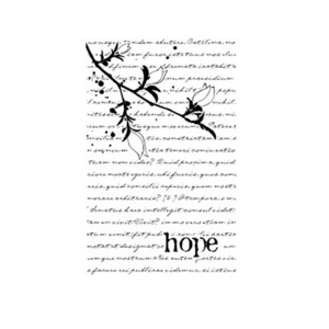 (3-G1732) Wood Stamp- Hope Collage